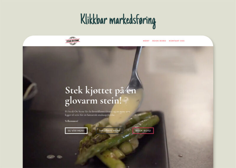 Steak on Stone | Klikkbar markedsføring